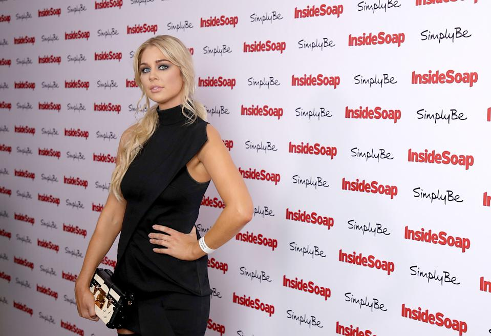 LONDON, ENGLAND - NOVEMBER 06:  Amanda Clapham attends the Inside Soap Awards held at The Hippodrome on November 6, 2017 in London, England.  (Photo by Mike Marsland/Mike Marsland/WireImage)