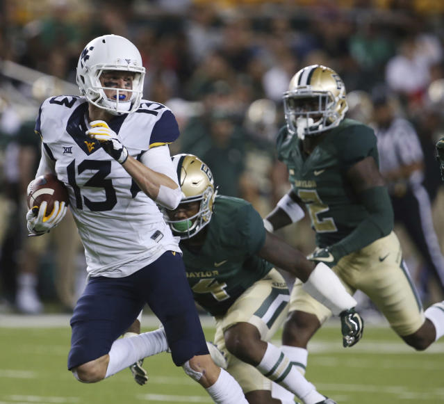 West Virginia wide receiver David Sills V caught 18 touchdown passes in 2017. (AP)