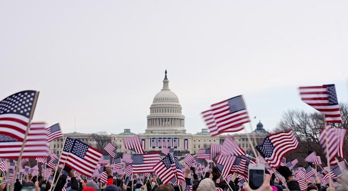 Inauguration Day on Capitol Hill in Washington, D.C. (Photo: Getty Images)