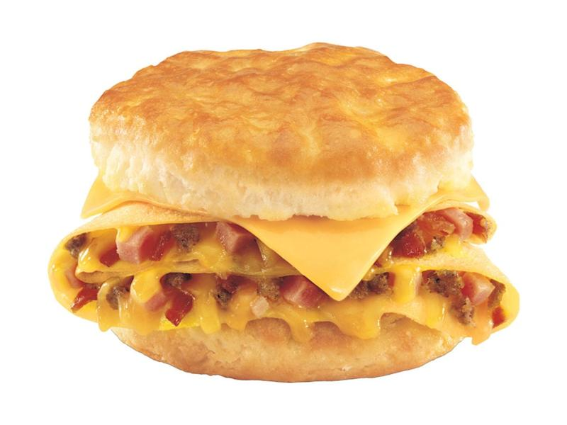 hardees loaded omelet biscuit