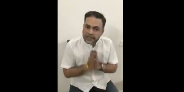 Ashish Pandey, the gun-toting son of a former BSP MP, in a video.