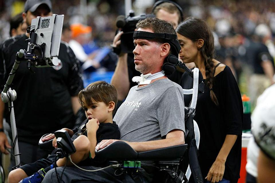 Steve Gleason's family has grown by one. (Getty)