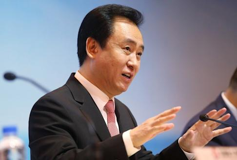 China Evergrande Group's chairman Hui Ka-yan during the developer's 2017 financial results press conference at the Four Seasons Hotel in Central on 26 March 2018. Photo: David Wong