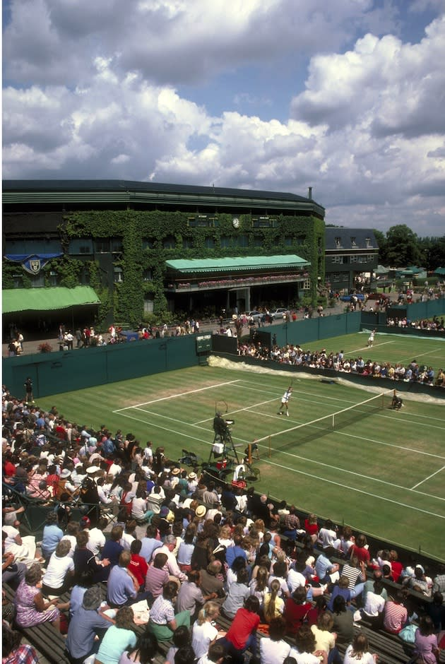 "<p class=""MsoNormal""><span>The first Wimbledon Championship was played in <b>1877</b>. The winner, from an entry field of 22 players, won approximately 12 guineas - in those days, probably enough money to buy a lifetime supply of wooden tennis racquets. </span></p>"
