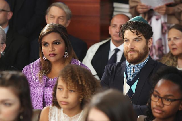 Mindy Kaling as Mindy Lahiri and Adam Pally as Peter in <em>The Mindy Project </em>(Photo: Hulu)