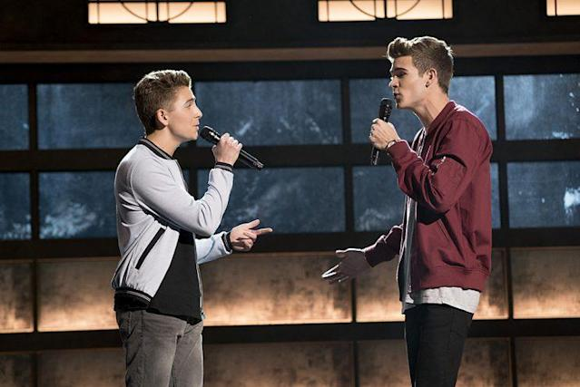 Gavin Becker and Devin Hayes on ABC's 'Boy Band' (Photo Credit: Eric McCandless/ABC)