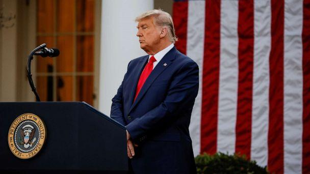 PHOTO: President Donald Trump listens during an address on the Operation Warp Speed program in the Rose Garden at the White House in Washington, Nov. 13, 2020. (Carlos Barria/Reuters)