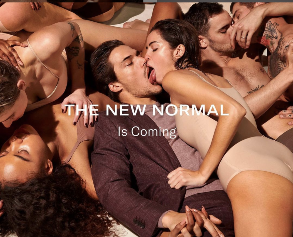 A new advertisement by menswear brand Suitsupply is raising eyebrows. (Photo: Instagram/Suitsupply)