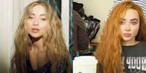 <p>Sabrina Carpenter is filming a brand new movie and she has a completely different look for her character. Based on the real life story of Laura Sobiech, Sabrina decided to dye to hair to match Laura's iconic red locks and looks amazing!</p>