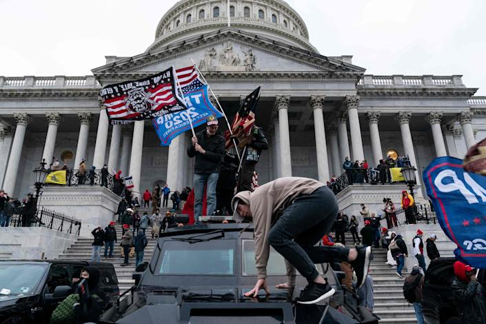Rioters on Jan. 6, 2021, in Washington, D.C.