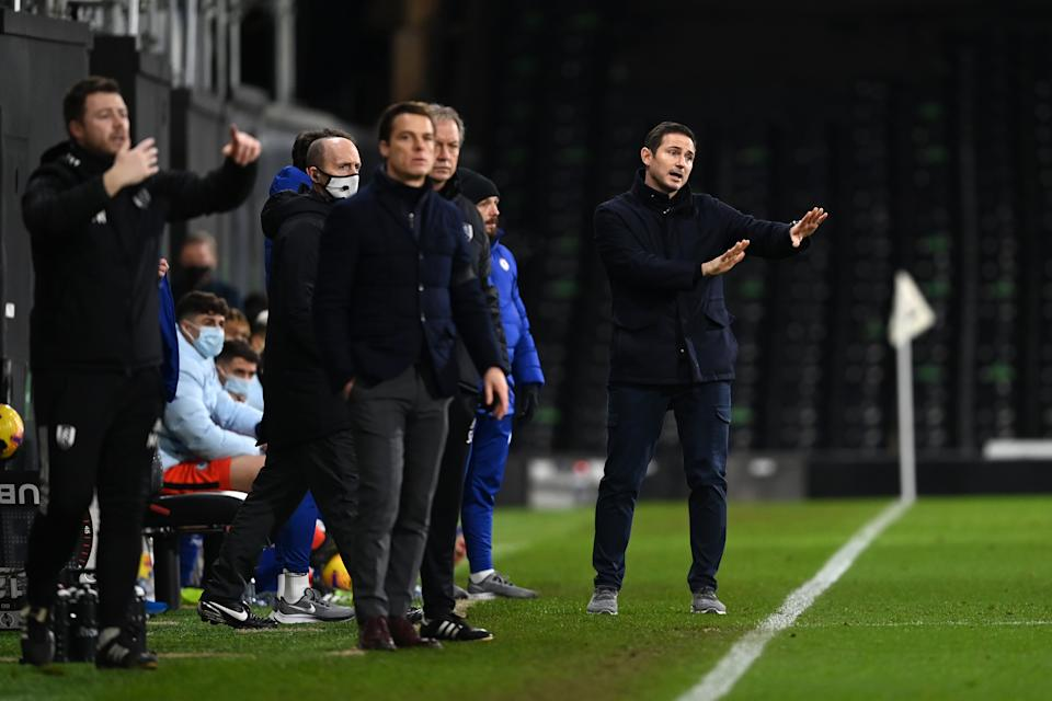 Frank Lampard on the touchline during Chelsea's 1-0 win (Getty)