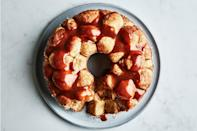 "Buttery brioche is the base for this cinnamon-infused, caramel-coated, eminently-sharable Easter dessert. It's a perfect choice for anyone who has little hands willing to help out in the kitchen. <a href=""https://www.epicurious.com/recipes/food/views/caramel-cinnamon-monkey-bread?mbid=synd_yahoo_rss"" rel=""nofollow noopener"" target=""_blank"" data-ylk=""slk:See recipe."" class=""link rapid-noclick-resp"">See recipe.</a>"