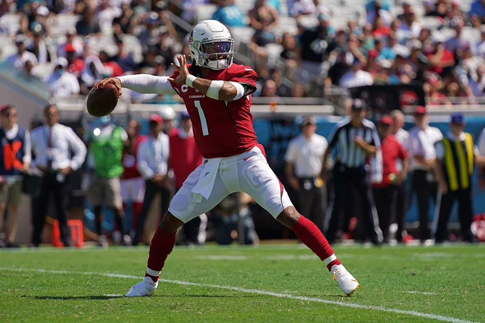 Arizona Cardinals quarterback Kyler Murray will lead his team into Los Angeles this week to take on the Rams. (Jasen Vinlove/USA TODAY Sports)