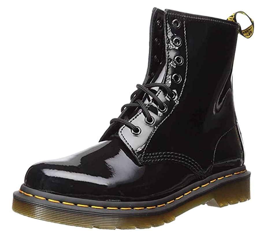 "<br><br><strong>Dr. Martens</strong> 1460 Patent Leather Combat Boot, $, available at <a href=""https://amzn.to/37a3Lgs"" rel=""nofollow noopener"" target=""_blank"" data-ylk=""slk:Amazon"" class=""link rapid-noclick-resp"">Amazon</a>"
