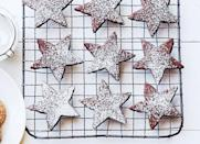 """<p>Bored of <a href=""""https://www.goodhousekeeping.com/food-recipes/a28566839/basic-sugar-cookies-recipe/"""" rel=""""nofollow noopener"""" target=""""_blank"""" data-ylk=""""slk:basic sugar cookies"""" class=""""link rapid-noclick-resp"""">basic sugar cookies</a>? A little cocoa powder and melted chocolate adds some sweet-bitter flavor.</p><p><em><a href=""""https://www.goodhousekeeping.com/food-recipes/a16186/cocoa-stars-recipe-ghk1214/"""" rel=""""nofollow noopener"""" target=""""_blank"""" data-ylk=""""slk:Get the recipe for Cocoa Stars »"""" class=""""link rapid-noclick-resp"""">Get the recipe for Cocoa Stars »</a></em></p>"""