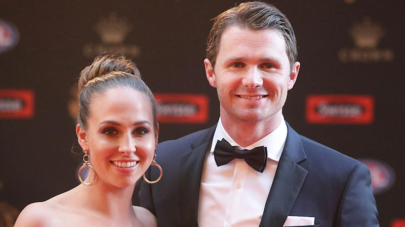 Pictured here, Patrick Dangerfield and his wife Mardi.