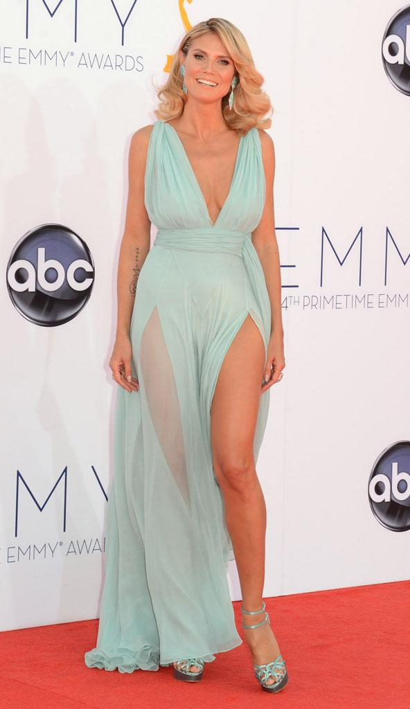 BEST: Heidi Klum showed some skin in this Alexandre Vauthier frock.