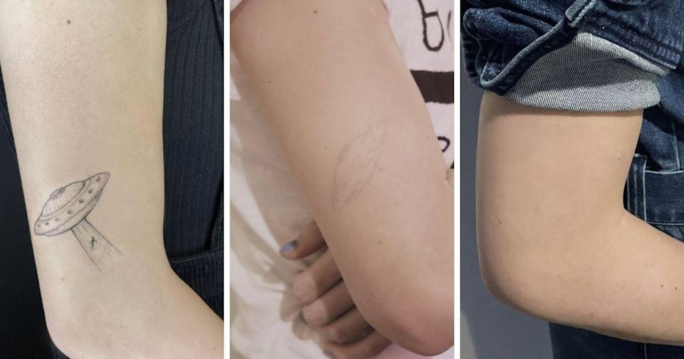 The ink breaks down naturally and disappears when the particles are small enough to be absorbed by the body, the website says. (Photos courtesy of Ephemeral Tattoo/Instagram)