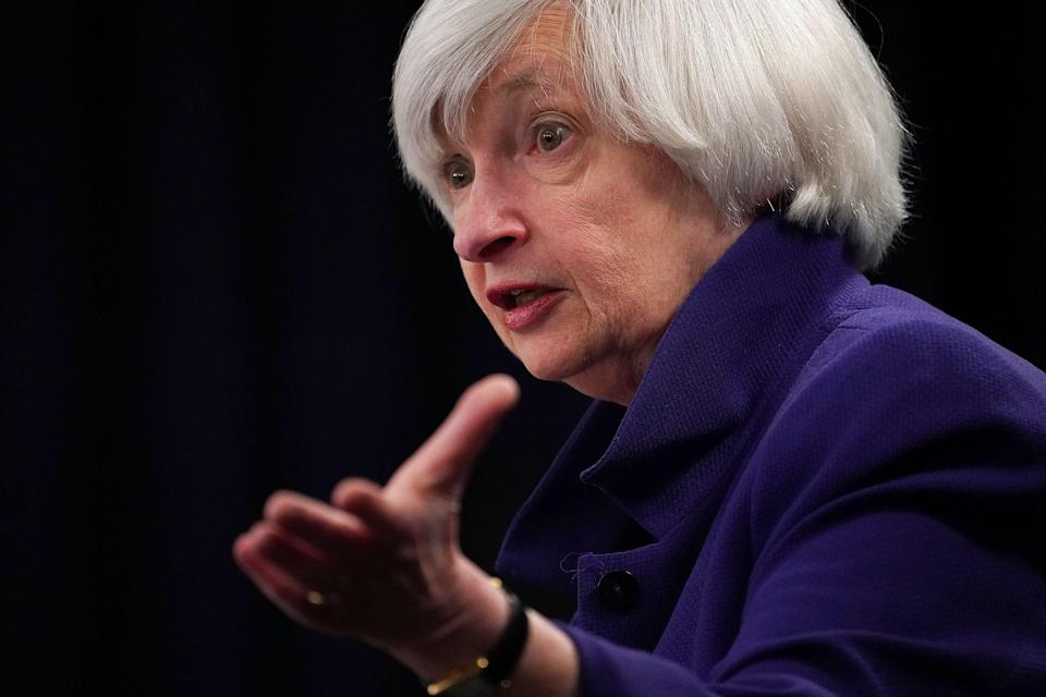 Former Federal Reserve Chairwoman Janet Yellen will be Joe Biden's Treasury Secretary, if confirmed by the Senate. (Getty Images)
