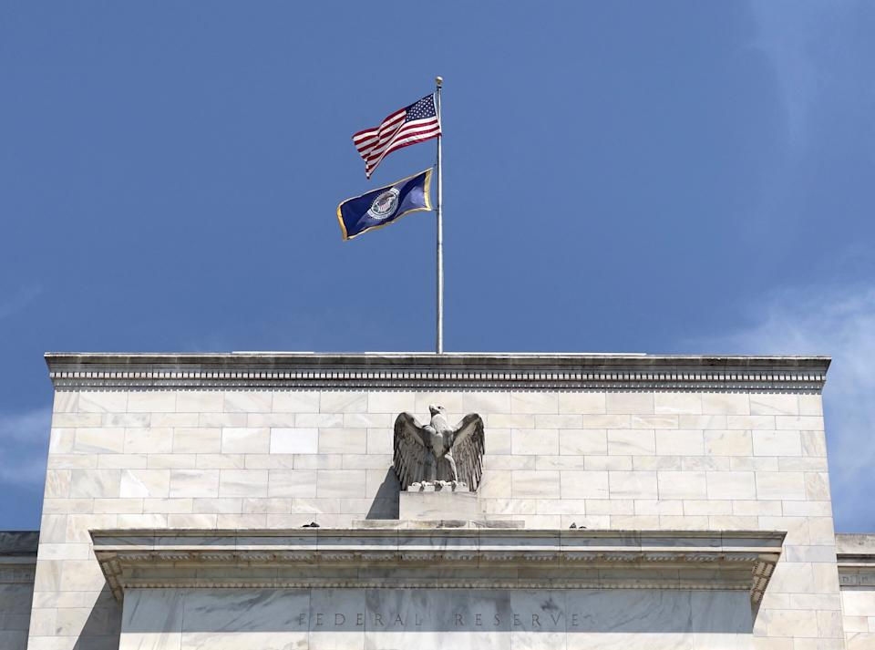 The Federal Reserve building pictured in Washington, DC on August 6, 2021. (Photo by Daniel SLIM / AFP) (Photo by DANIEL SLIM/AFP via Getty Images)