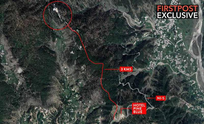 The JeM training camp in Balakot is 3 kms from Hotel Blue Pine on the Jaba-Bisian Road