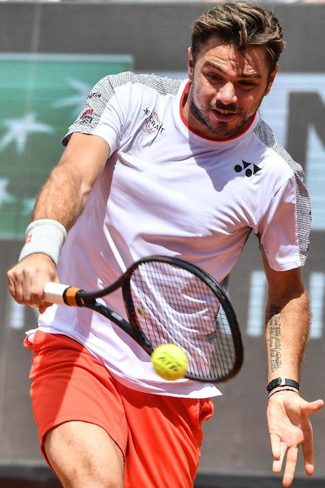 Three-time Grand Slam winner Stan Wawrinka was knocked out in the first round of the Italian Open by David Goffin (AFP Photo/Andreas SOLARO)