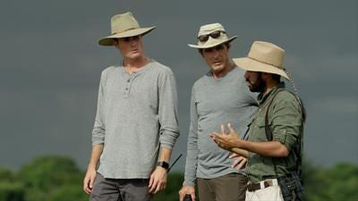 "Bob Woodruff and his son Mack in Colombia. The duo are featured in a Nat Geo series called ""Rogue Trips."""