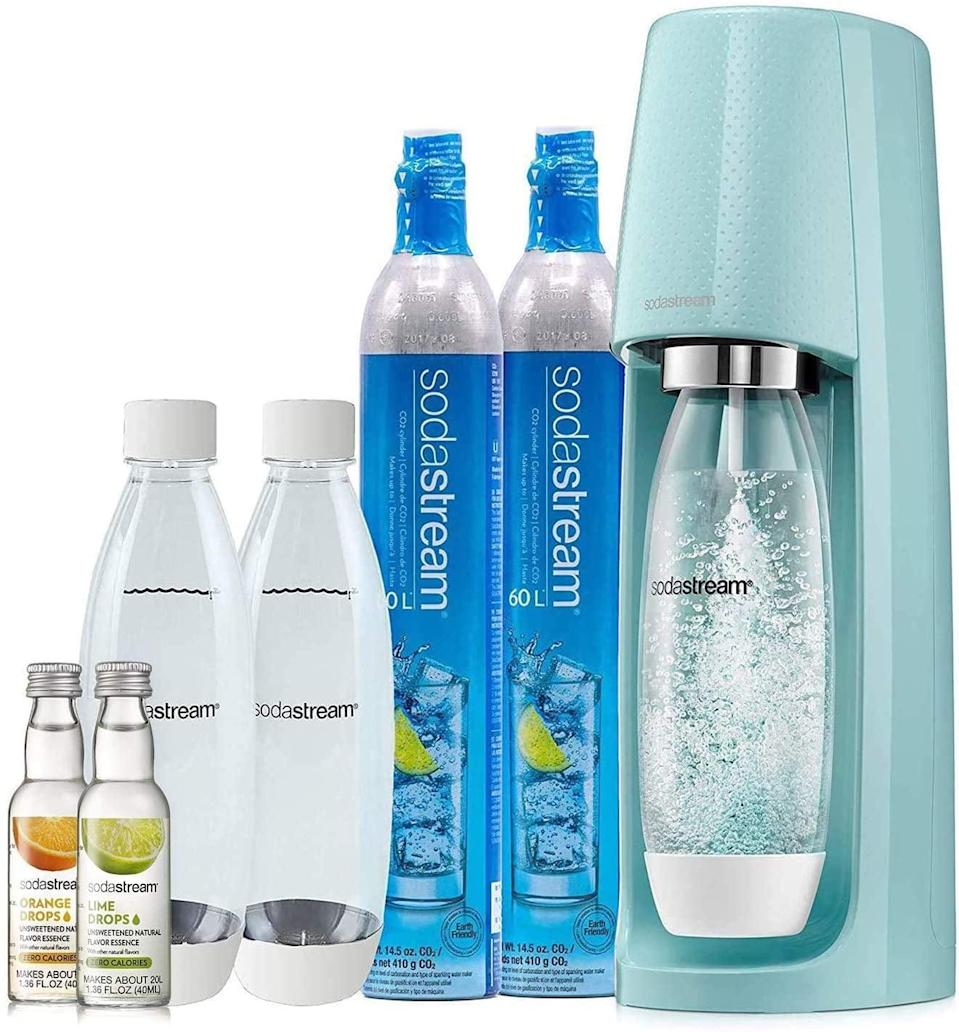 <p>Get this <span>SodaStream Fizzi Sparkling Water Maker Bundle</span> ($150) for the person who loves sparkling water.</p>