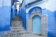 <p>Ocean-inspired blues and traditional tiles tempt visitors to explore the streets of Morocco.</p>
