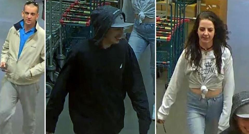 Police have released images of three people who may be able to assist with investigations into a robbery on the Sunshine Coast. Source: Queensland Police