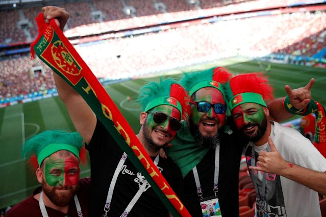 Soccer Football - World Cup - Group B - Portugal vs Morocco - Luzhniki Stadium, Moscow, Russia - June 20, 2018 Portugal fans celebrate after the match REUTERS/Christian Hartmann