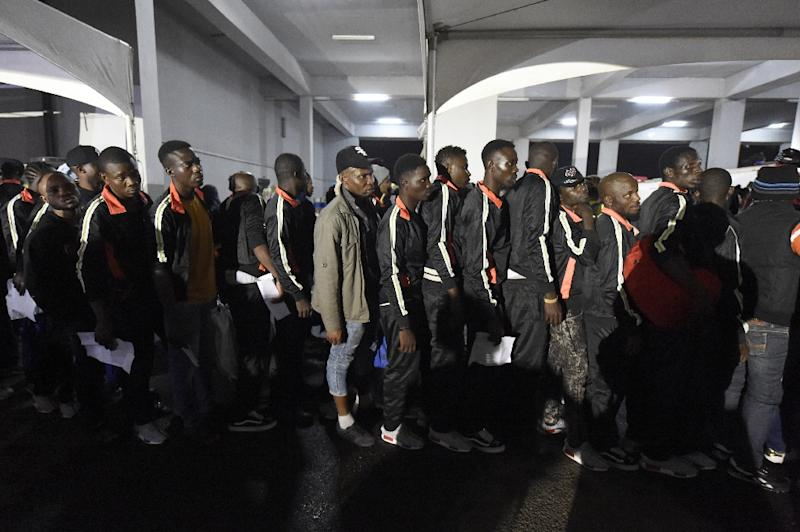 The UN has called on Libya to agree to shut down 30 detention centres holding 15,000 migrants (AFP Photo/PIUS UTOMI EKPEI)
