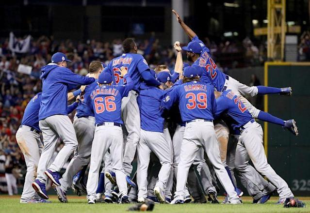 The Cubs winning the World Series, the promised land that so many Cubs fans never got to see. (Getty Images)