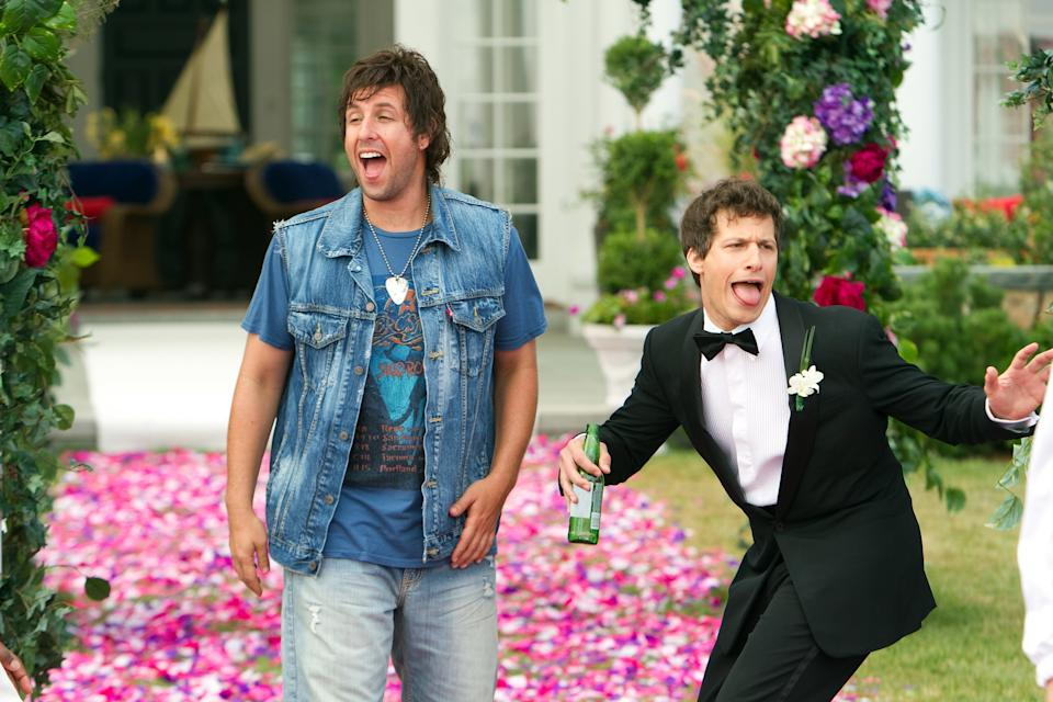 THAT'S MY BOY, from left: Adam Sandler, Andy Samberg, 2012. ph: Tracy Bennett/©Columbia Pictures/Courtesy Everett Collection