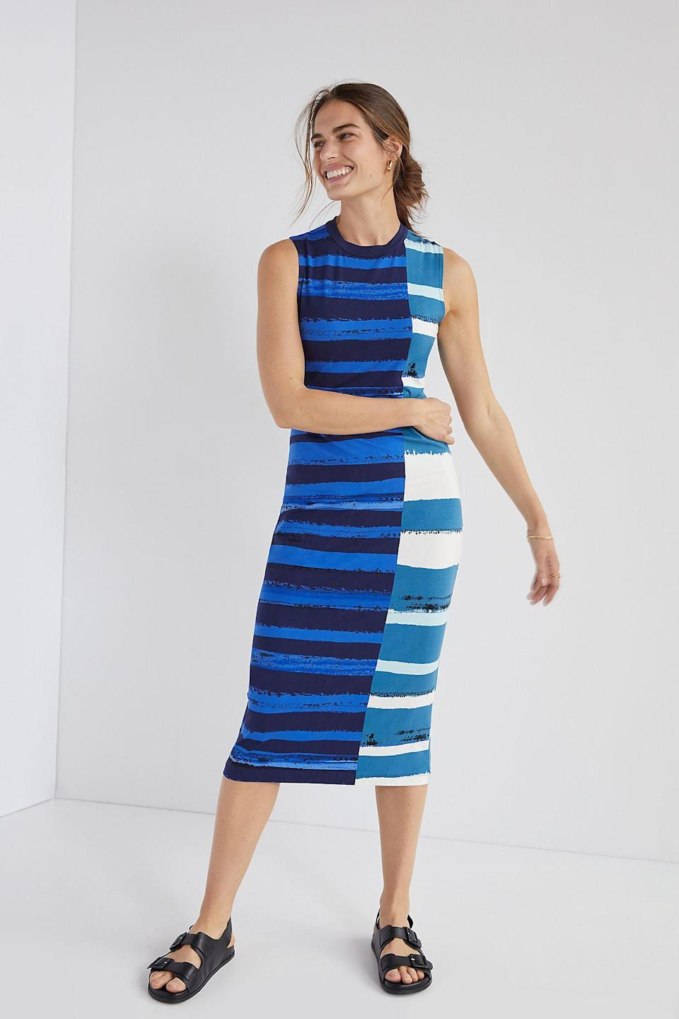"""<br><br><strong>Corey Lynn Calter</strong> Striped Midi Dress, $, available at <a href=""""https://go.skimresources.com/?id=30283X879131&url=https%3A%2F%2Fwww.anthropologie.com%2Fshop%2Fcorey-lynn-calter-striped-midi-dress"""" rel=""""nofollow noopener"""" target=""""_blank"""" data-ylk=""""slk:Anthropologie"""" class=""""link rapid-noclick-resp"""">Anthropologie</a>"""