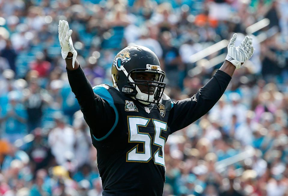 Former Jaguars linebacker Geno Hayes, only 33 years old, is reportedly fighting for his life in hospice care. (Photo by Sam Greenwood/Getty Images)