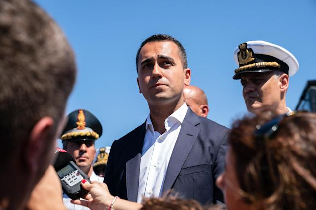 Luigi Di Maio, Italy's deputy prime minister, has threatened to withhold payments to the EU budget (Getty)