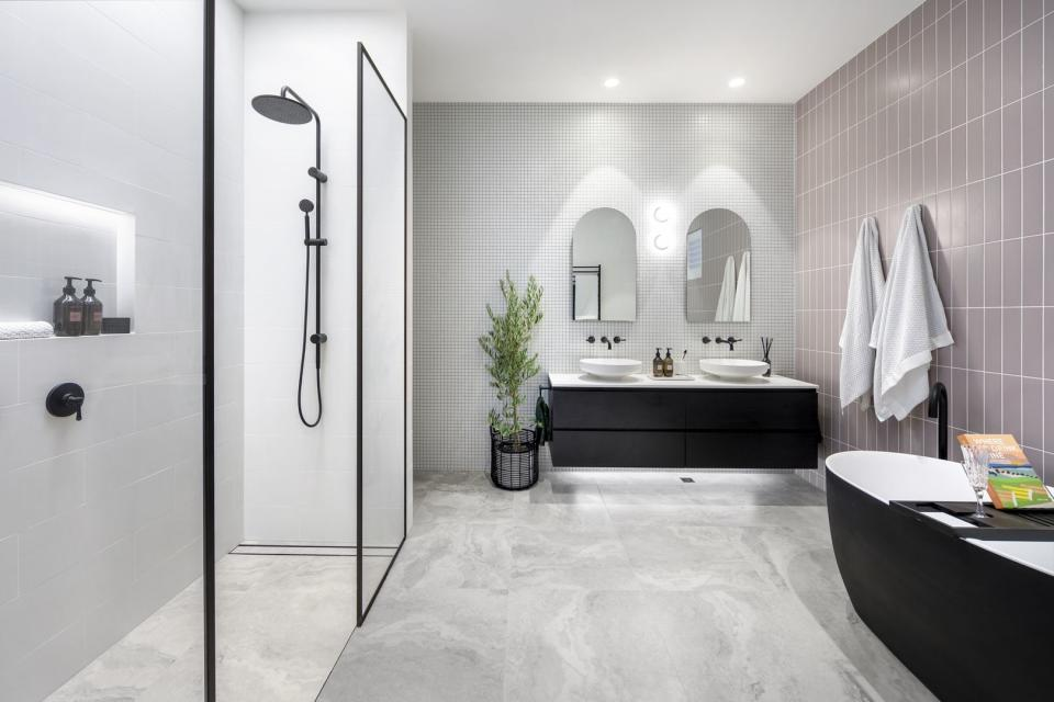 Sarah and George's master ensuite. Photo: Domain