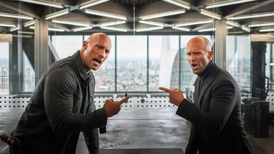 Dayne Johnson and Jason Statham team up in Hobbs & Shaw (Credit: Universal)