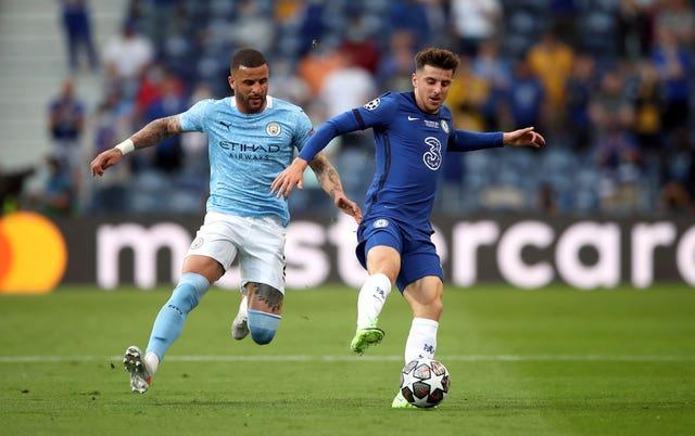 England team-mates Kyle Walker and Mason Mount faced one another in the Champions League final