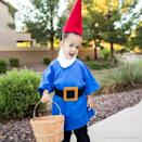 """<p>Your little <a href=""""https://www.anightowlblog.com/no-sew-garden-gnome-costume/"""" rel=""""nofollow noopener"""" target=""""_blank"""" data-ylk=""""slk:DIY garden gnome"""" class=""""link rapid-noclick-resp"""">DIY garden gnome</a> will be sure to gather all of the Halloween candy this year.</p>"""