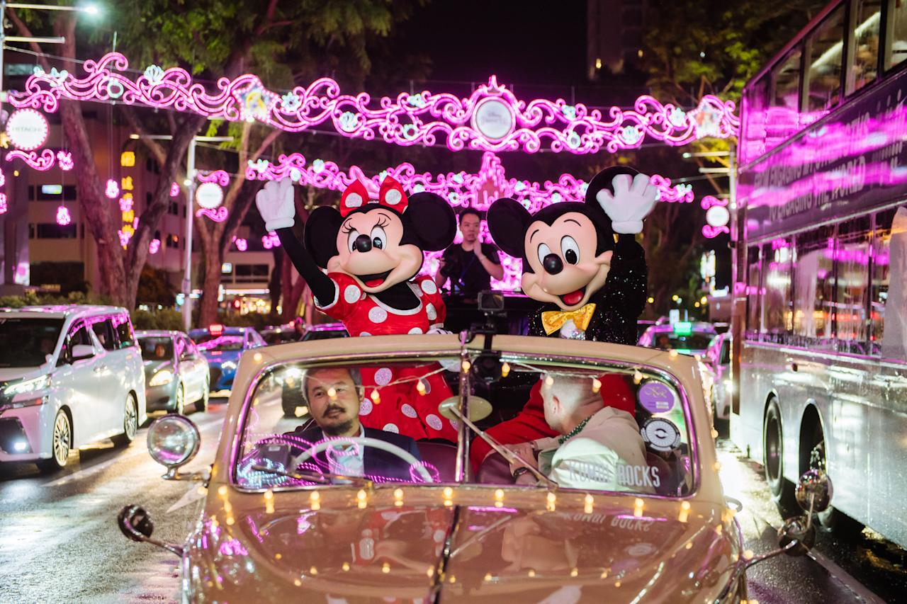 <p>Disney and Disney-Pixar characters have lit up Orchard Road, which happens to be Disney's biggest lighting event in Southeast Asia. </p>