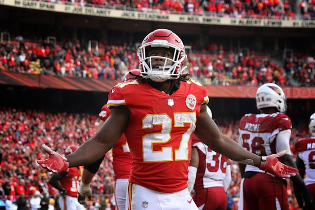 In January, a man accused the Chiefs' Kareem Hunt of assaulting him in a nightclub. The man declined to press charges. (Getty Images)