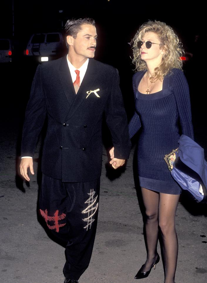Rob Lowe and Sheryl Berkoff at the 1st Annual Movie Awards in 1991. (Photo: Ron Galella/Ron Galella Collection via Getty Images)