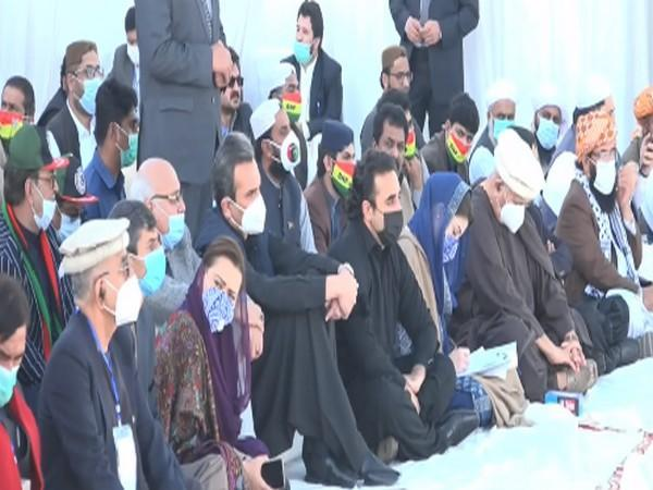 PDM leaders gathered in Larkana on the ocassion of former Prime Minister Benazir Bhutto's 13th death anniversary.