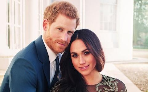 Prince Harry and Meghan Markle pose for an official engagement photo - Credit: Alexi Lubomirski via Getty Images