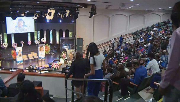 PHOTO: People arrive for the funeral service for Miya Marcano, Oct. 14, 2021, at the Cooper City Church of God, in Cooper City, Fla. (WPLG)