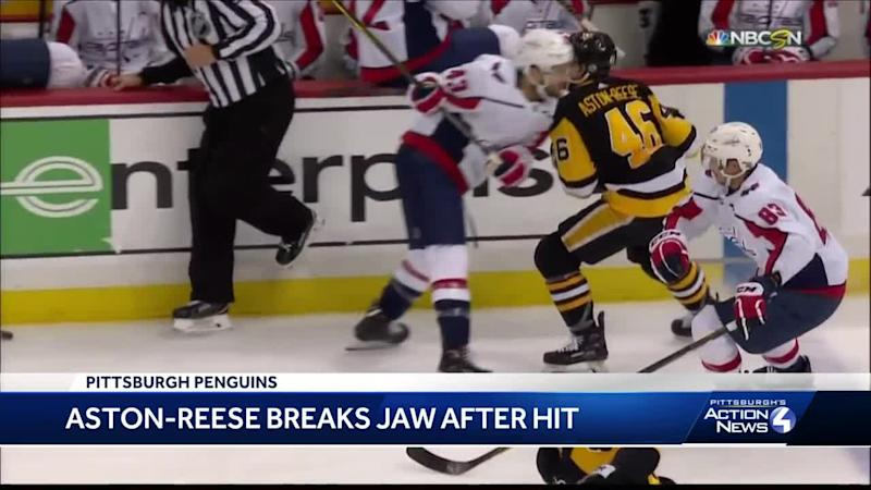 Capitals forward Tom Wilson suspended 3 games for illegal hit on Penguins   Zach Aston-Reese e70a99c771c0