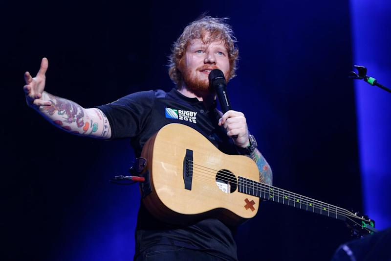 Chart-topper? Ed Sheeran is on track to bag this week's number one: Phil Walter/Getty Images