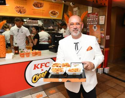 Guests enjoyed an exclusive first taste of the new KFC Cheetos Sandwich, along with one-of-a-kind KFC and Cheetos® mashup menu items available only at the event.
